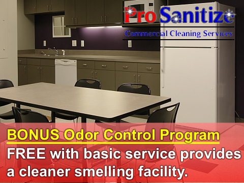janitorial services and deodorization services